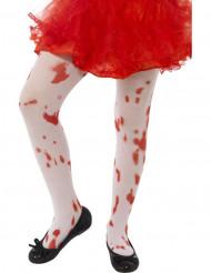 Strømpebukser blodige til børn Halloween