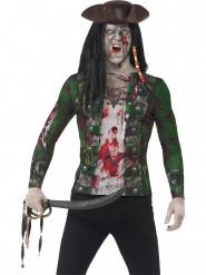 Zombie pirat trøje til voksne