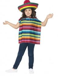 Poncho og sombrero mexicansk til børn