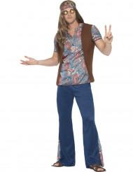 Kostume hippie peace blå til mænd
