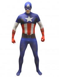 Kostume Morphsuits™ Captain America voksen