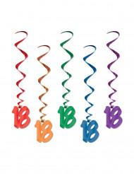 5 Spiralophæng 18 år - flerfarvet