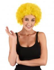 Paryk klovn krøllet gul standard til voksne
