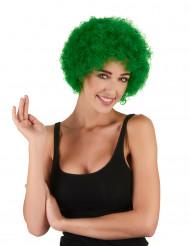 Grøn paryk med krøller standard til voksne