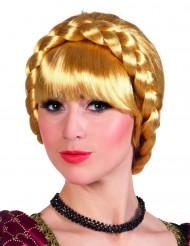 Paryk bayersk blond flettet til kvinder