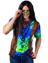 Blå hippie T-shirt voksen