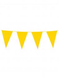 Guirlande med faner gule 10 meter