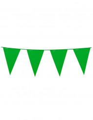 Guirlander med faner 10 cm i grøn
