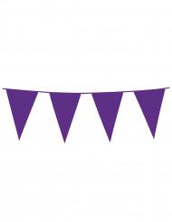 Guirlande med lilla flag 10 m