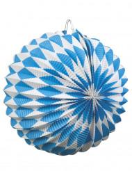 2 Lamper blå og hvide 22 cm Oktoberfest