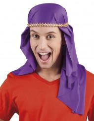 Hovedbeklædning arabisk emir violet til voksne