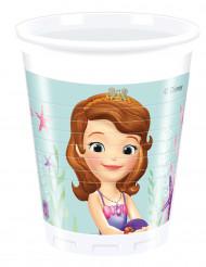 8 Plastikkrus Prinsesse Sofia™ 200 ml