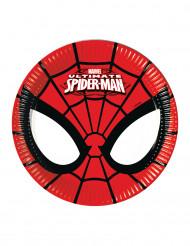 8 Små paptallerkener med Ultimate Spiderman™