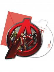 Invitationskort og konvolutter 6 stk Avengers age of Ultron™