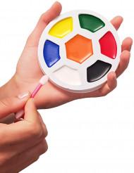 Palette sminke 7 farver med pensel
