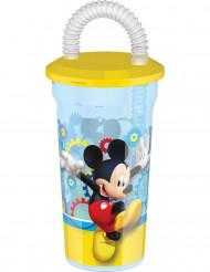 Plastikglas med sugerør Mickey™ 45 cl