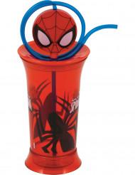 Rødt Spiderman krus med sugerør - Spiderman™