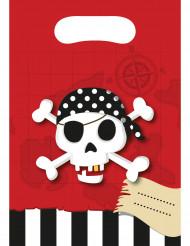 6 gaveposer med skattekort pirat