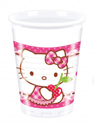 8 Plastikkrus Hello Kitty™ 20 cl