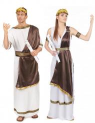 Parkostume romersk par i brun