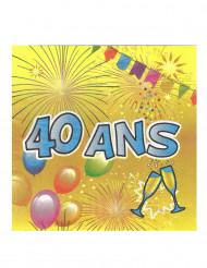 40 ans servietter