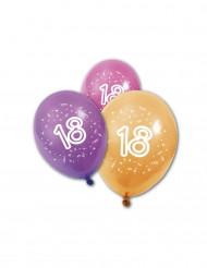 8 Latex balloner fødselsdag 18 år 30 cm