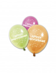 Ballon 8 stk Joeux anniversaire 25 cm