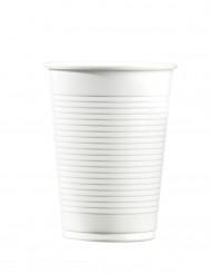 100 hvide plastikkrus 20 cl