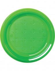 30 grønne plastikkrus 22 cm