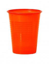 50 mandarinfarvede plastikkrus 20 cl