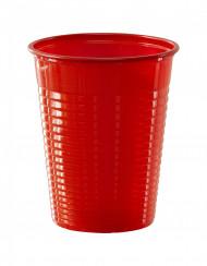 50 krus i rødt plast 20 cl