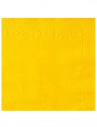 50 Servietter gule 38 x 38 cm