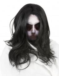 Hætte spøgelse med paryk voksne Halloween
