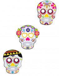 3 masker i pap diverse Dia de los muertos voksne Halloween