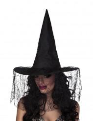 Heksehat sort med spindelvæv til kvinder