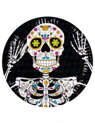 6 Tallerkener Dia de los Muertos 23 cm