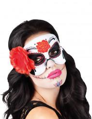Dia de los Muertos maske med rose