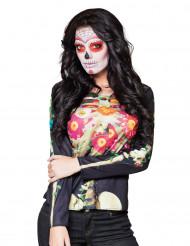 T-shirt lange ærmer skelet Dia de los muertos