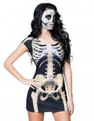 Kort skeletkjole til voksne Halloween