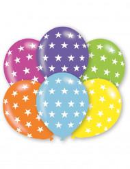 Balloner 6 stk multifarvet