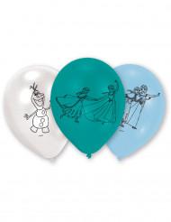 6 blå latexballoner Frost™
