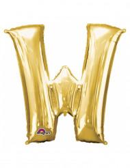 Ballon aluminium bogstav W i guld 33 cm