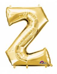 Ballon aluminium bogstav Z guld 33 x 33 cm