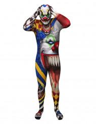 Skræmmende klovn Morphsuits™ til voksne Halloween