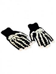 Handsker skelet LED Halloween