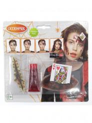 Makeup sæt hjerter dame blodbesudlet voksne Halloween