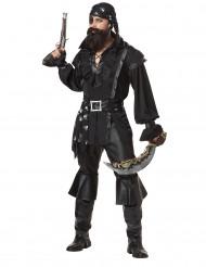 Sort pirat -kostume voksen
