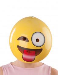 Maske smiley med grimasser til voksne