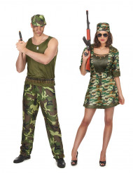 Par kostume militær til voksne