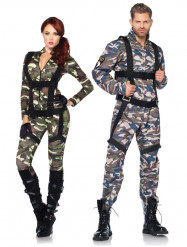 Parkostume militær luxe til voksne